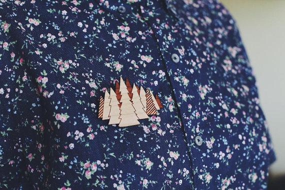 We Are Wild tree brooch cherry